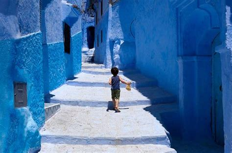 blue color inspirations from chefchaouen moroccan architecture decorating and