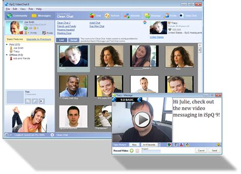 live cam rooms communication tools ispq video chat freeware ispq