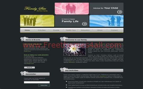 abstract black family css template