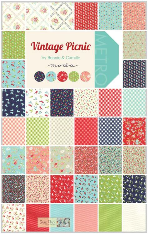 Moda Patchwork Fabric - vintage picnic jelly roll applique patchwork and quilting