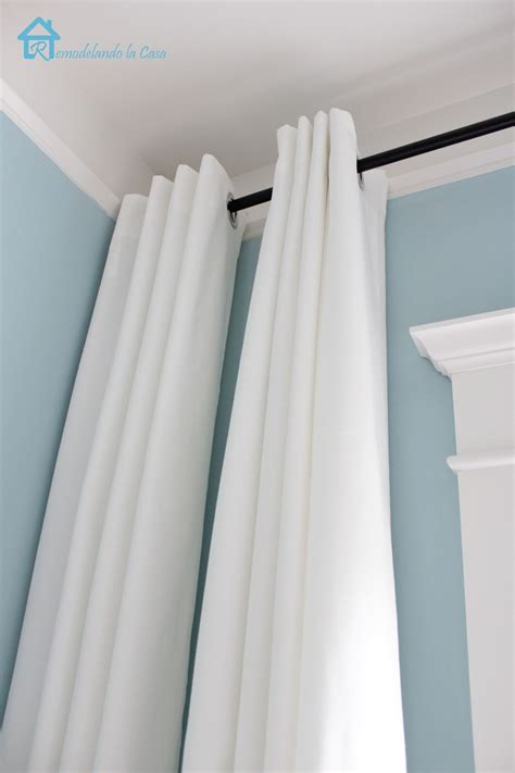 one sided drapes remodelando la casa how to make your curtains longer