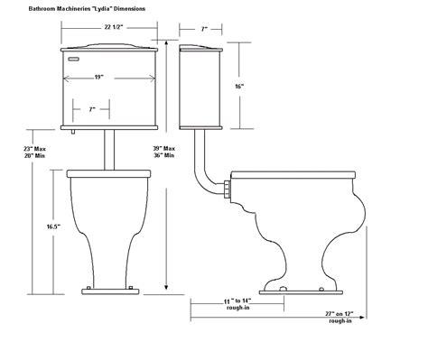bathroom rough in diagram low tank toilets