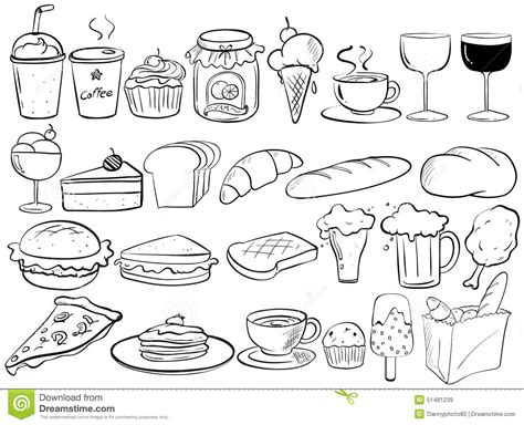 food doodle food doodles stock vector image 51481239