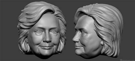 bobblehead 3d model clinton portrait 3d model free stl file