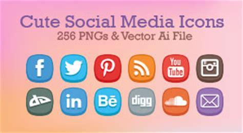 cute social media icons  pngs vector ai file