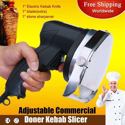 slicers cimiters and gyro knives commercial kitchen knives 110v 60hz electric shawarma cutter slicer knife gyro knife