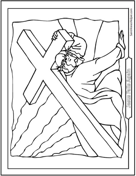 coloring pages of jesus carrying the cross catholic lent activities for children saint annes help on
