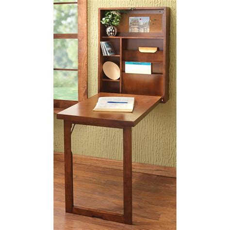Furniture, Interior : Wall Mounted Folding Table For Small
