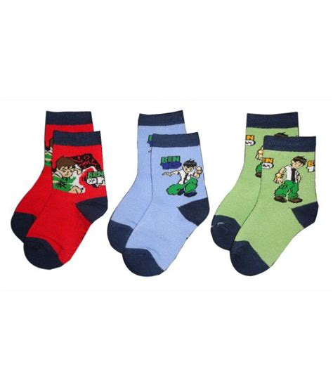 Sock Ben10 jazzup pack of 3 ben 10 print socks for buy jazzup