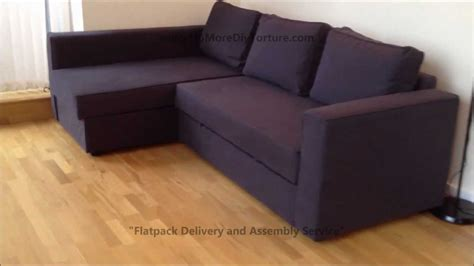 sectional sofa bed ikea ikea manstad corner sofa bed with storage youtube