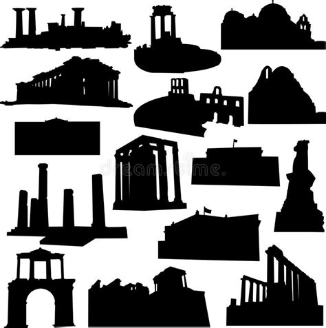 well known architects well known greece architecture royalty free stock images