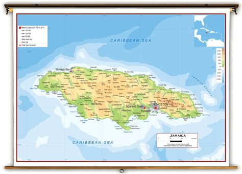 physical map of jamaica pin world jamaica map location on