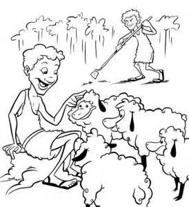 adam and eve cain and abel coloring page ca 205 n y abel actividades para colorear me aburre la religi 243 n