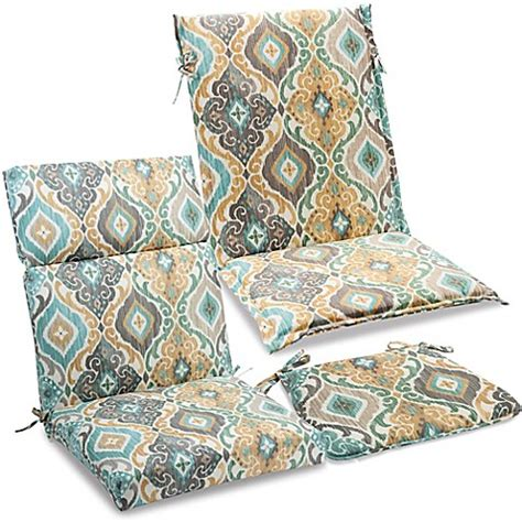 bed bath and beyond outdoor pillows outdoor cushions and pillows in ikat mist bed bath beyond