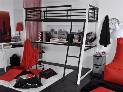 bureau avec 騁ag鑽e ikea lit mezzanine malicio 90x190cm bureau option matelas