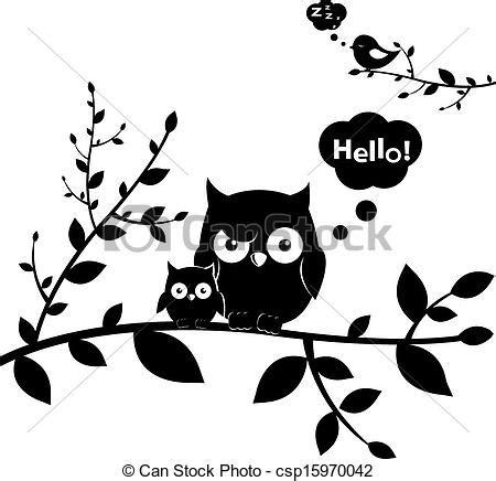 imagenes en blanco y negro de buhos eps vector de b 250 hos 2 owls isolated on white