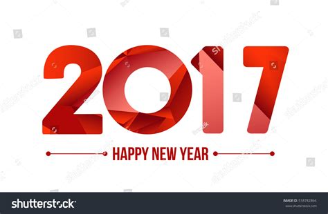 happy new year element vector design happy new year 2017 year 2016 เวกเตอร สต อก 518782864