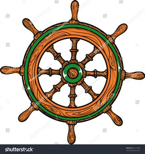 cartoon boat tattoo vector tattoo ship wheel stock vector 84117040 shutterstock