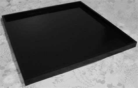 large black tray for ottoman extra large handmade black wood ottoman tray 36 x 36 160