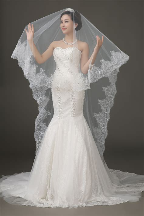 Wedding Veil by Lace Edge Wedding Veil Uniqistic