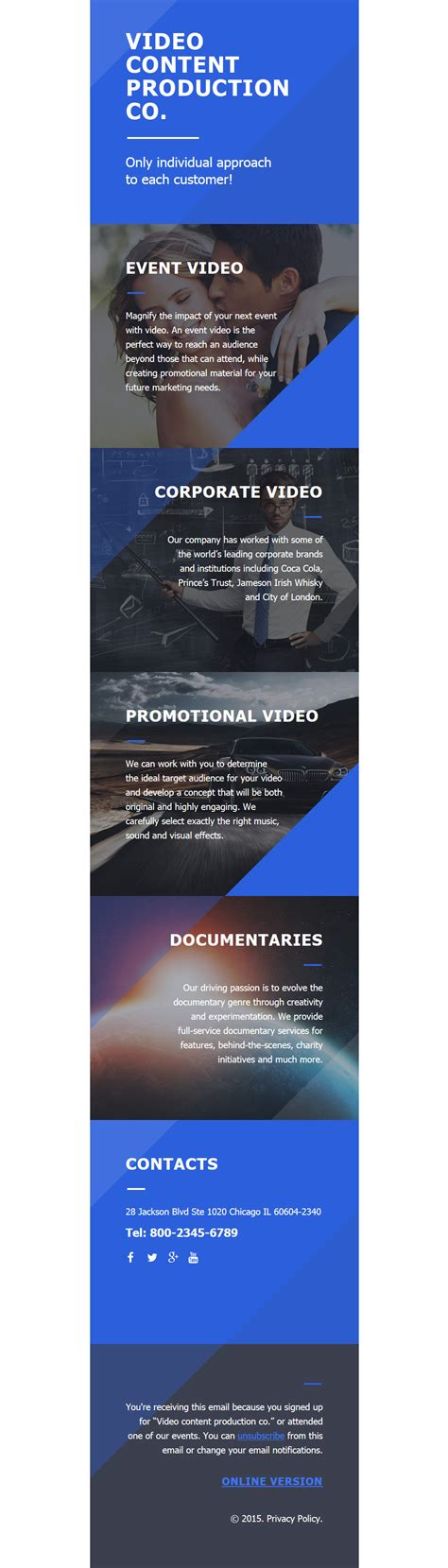 video lab responsive newsletter template 58005