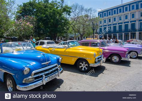 colorful cars cuba habana central colorful classic 1950 s