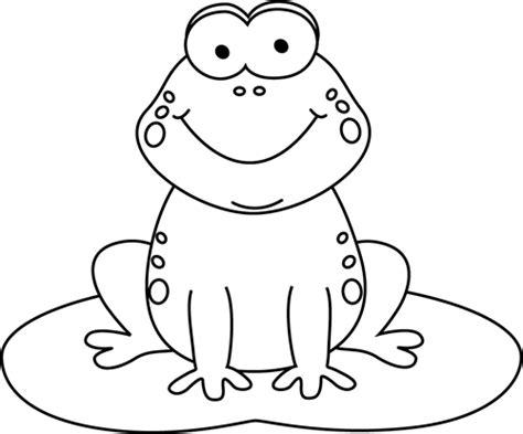 frog clipart black and white black and white frog on a pad clip
