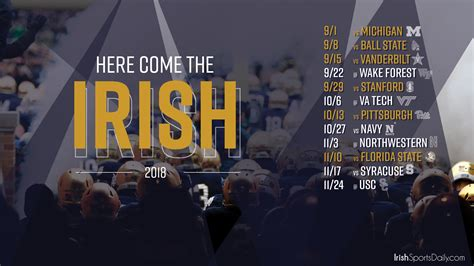 notre dame background 2018 notre dame football schedule desktop background