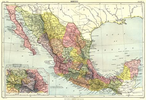 map of mexico showing cities mexico showing states inset mexico city britannica 9th