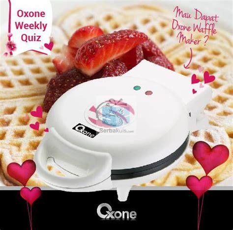 Oxone Waffle Maker kuis oxone berhadiah waffle maker