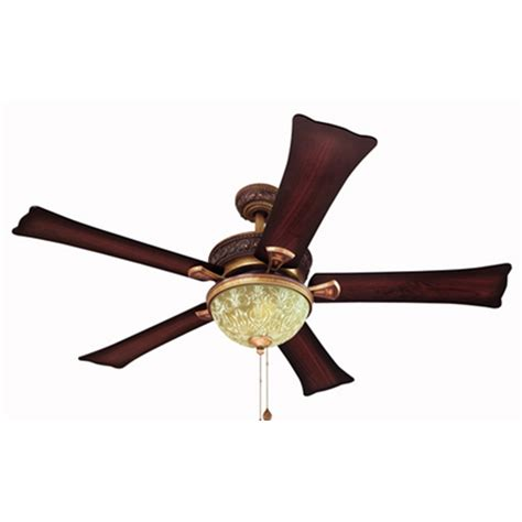 Shop Harbor Breeze 52 In Fairfax Torino Gold Ceiling Fan Copper Ceiling Fan With Light