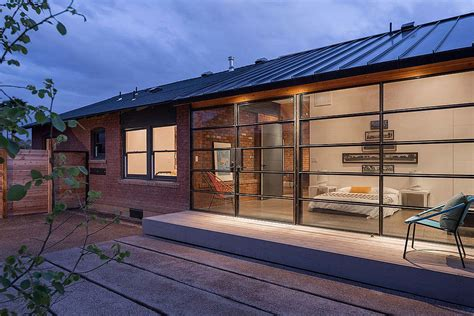 Brick Garages Designs glass and metal addition transforms 1920s bungalow in phoenix