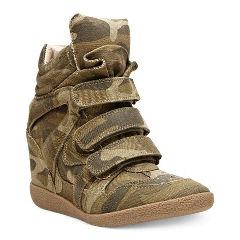 Sneakers Wedges 5cm 1 lyst steve madden hilight wedge sneakers in green