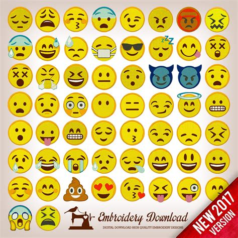 emoji pack embroidery designs emoticons emoji pack 58 designs instant