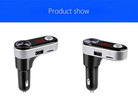Btc1 5 In 1 Wireless Bluetooth Lighter Fm Transmitter Lcd Usb Charger bc09b wireless bluetooth car mp3 fm transmitter with dual usb ports and cigarette lighter socket