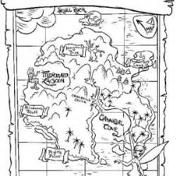 neverland map coloring page jake treasure map coloring page www pixshark com