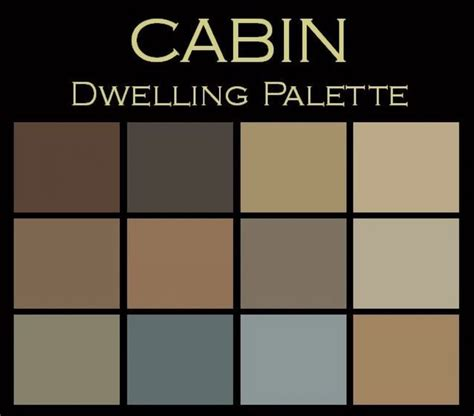 rustic paint color schemes the cabin paint color palette warm cozy your own