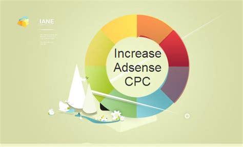 adsense cpc how to increase google adsense cpc cost per click for