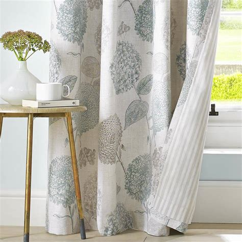 large floral print curtains ashley wilde avril lined eyelet curtains duck egg