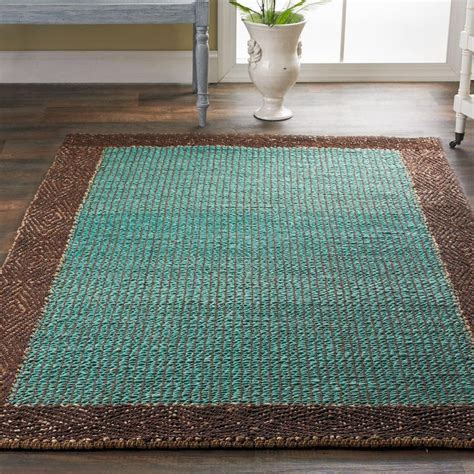 colored jute rugs braided jute border rug available in 3 colors black and taupe brown