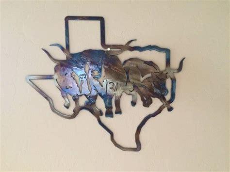 texas longhorns home decor texas state w texas longhorns metal sculpture wall art