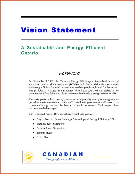 Personal Vision Statement Template personal vision statements exles of mission and vision