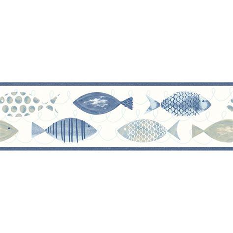 Wallborder Wallpaper List Kode 1022 chesapeake key west blue fish wallpaper border sle 3113 12213bsam the home depot