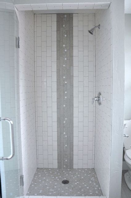 vertical subway in grey yummy rental bathroom pinterest mixing vertical and horizontal subway tile bing images
