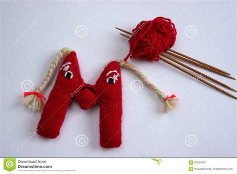Handmade Letters - alphabet knitted letter emotion handmade stock photo