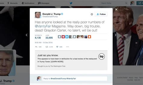 donald trump on twitter realdonaldcontext neue chrome extension checkt donald