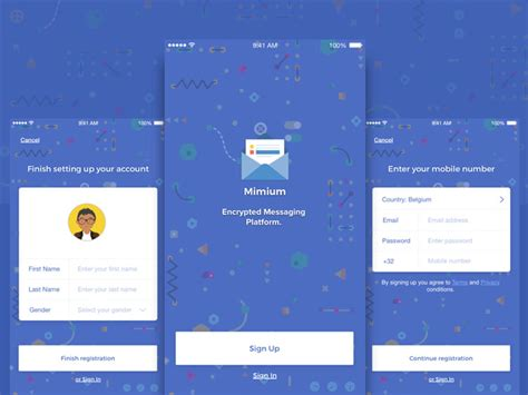Messenger Card Template by Free Mimium Messenger App Sketch Template Graphic