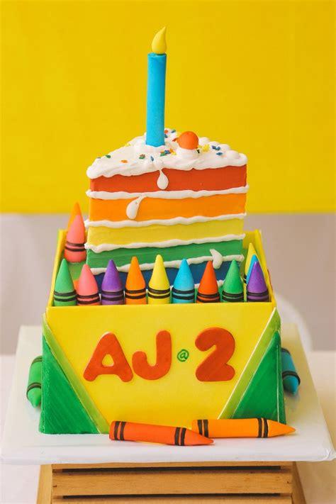 themed birthday cakes manila aj s crayons themed party 2nd birthday party doll manila