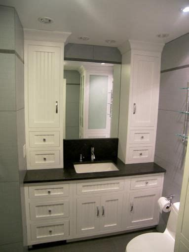 bathroom vanity with linen cabinet hand made bathroom