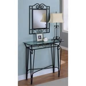 Table Lamp On Amazon Amazon Com 3pc Black Finish Metal Entry Hall Table